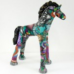 millefiore horse by Judy Summers