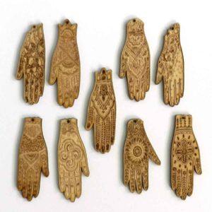 Wood Mehndi Hands
