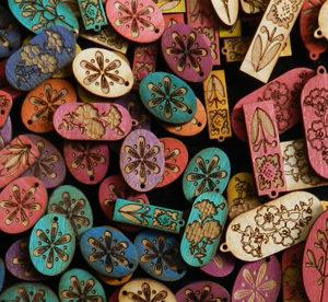 Wood Charms